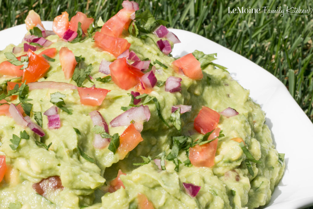 The Perfect Guacamole. Perfect with chips, over top grilled chicken, for taco night... heck its good enough to eat straight out of the bowl!