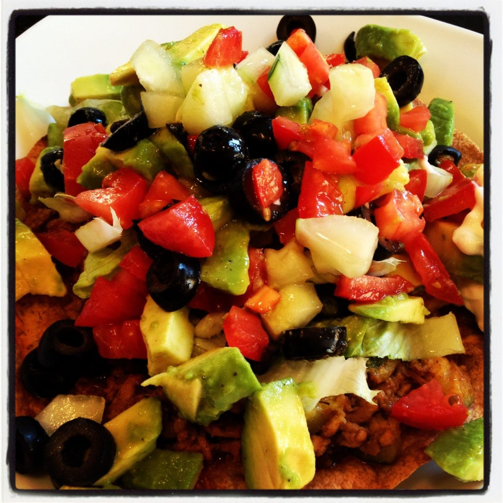 A Lighter Tostada. A complete Mexican inspired meal made healthy! So easy, so delicious!