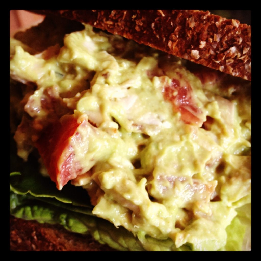 Chicken Salad with Avocado, Applewood Smoked Bacon and Tomato