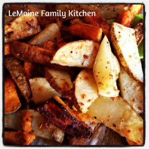 Roasted Potatoes & Sauteed Brocoli Rabe | LeMoine Family Kitchen #potatoes #broccolirabe #sidedish