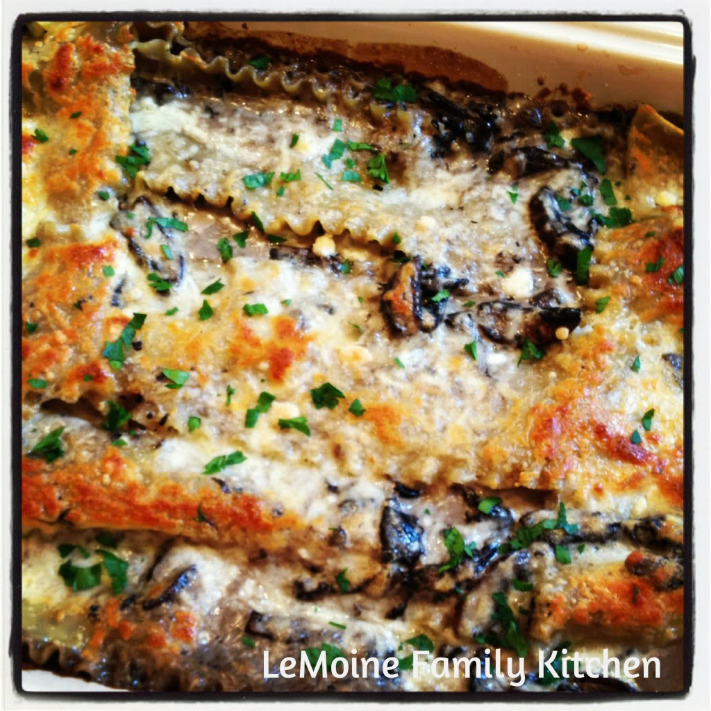 Lasagna with a Creamy Portobello Sauce | LeMoine Family Kitchen #lasagna #pasta #holiday #mushroomsauce