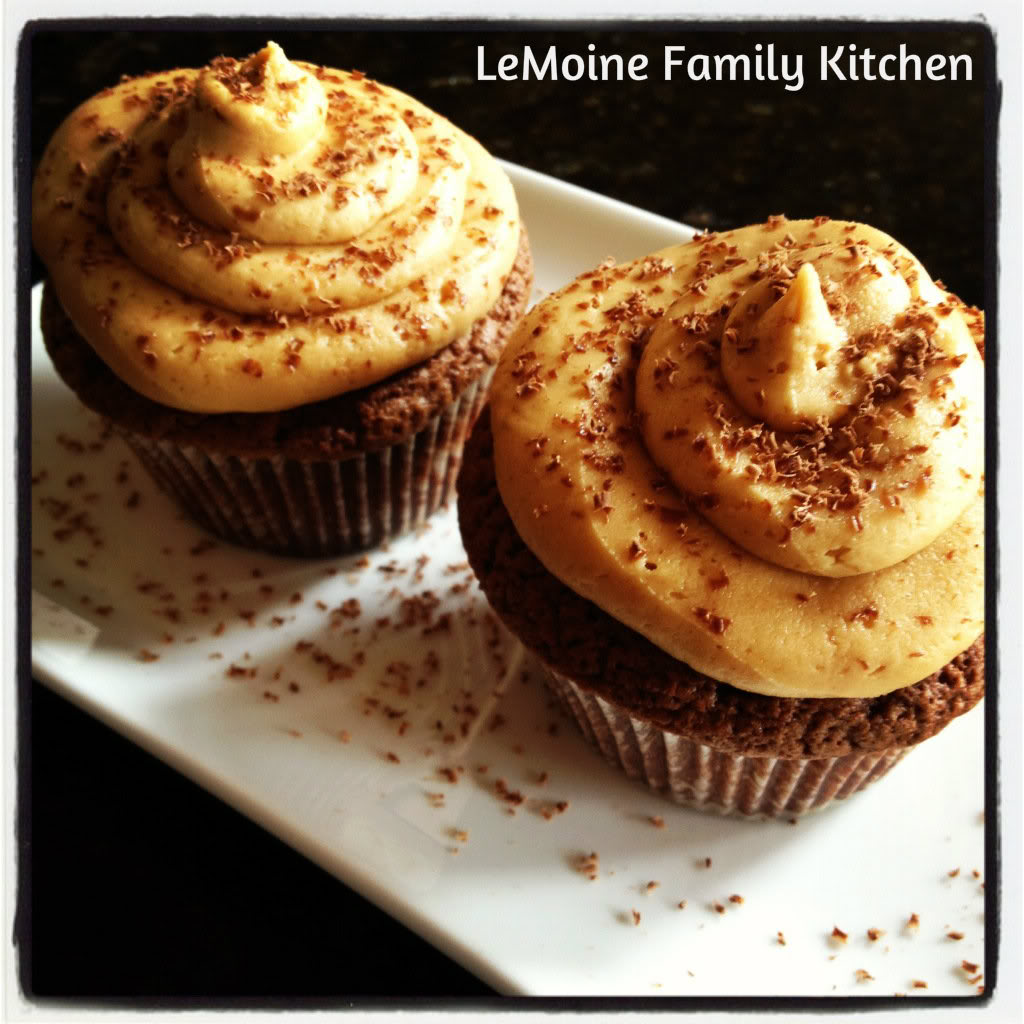 Nutella Cupcakes & Peanut Butter Frosting | LeMoine Family Kitchen