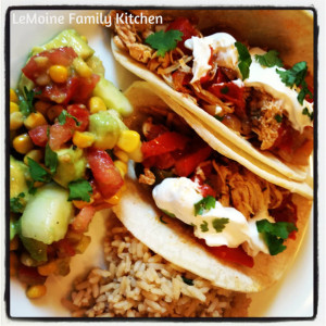 Slow Cooker Fajita Chicken | LeMoine Family Kitchen #easydinner #chicken #slowcooker #mexican #taco