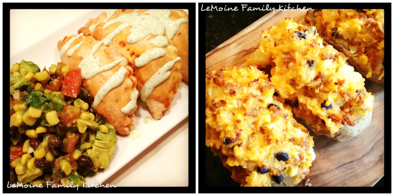 Empanadas & Mexican Twice Baked Potatoes