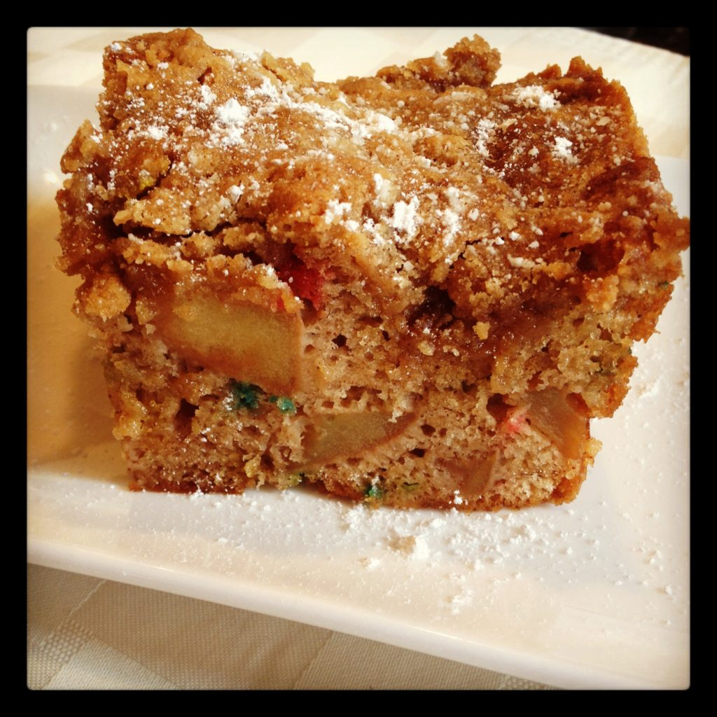Funfetti Apple Cake with Brown Sugar Crumb Topping