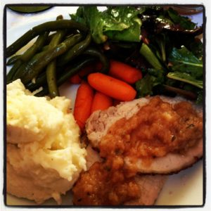 Perfect Roasted Pork Loin & Homemade Rosemary Applesauce