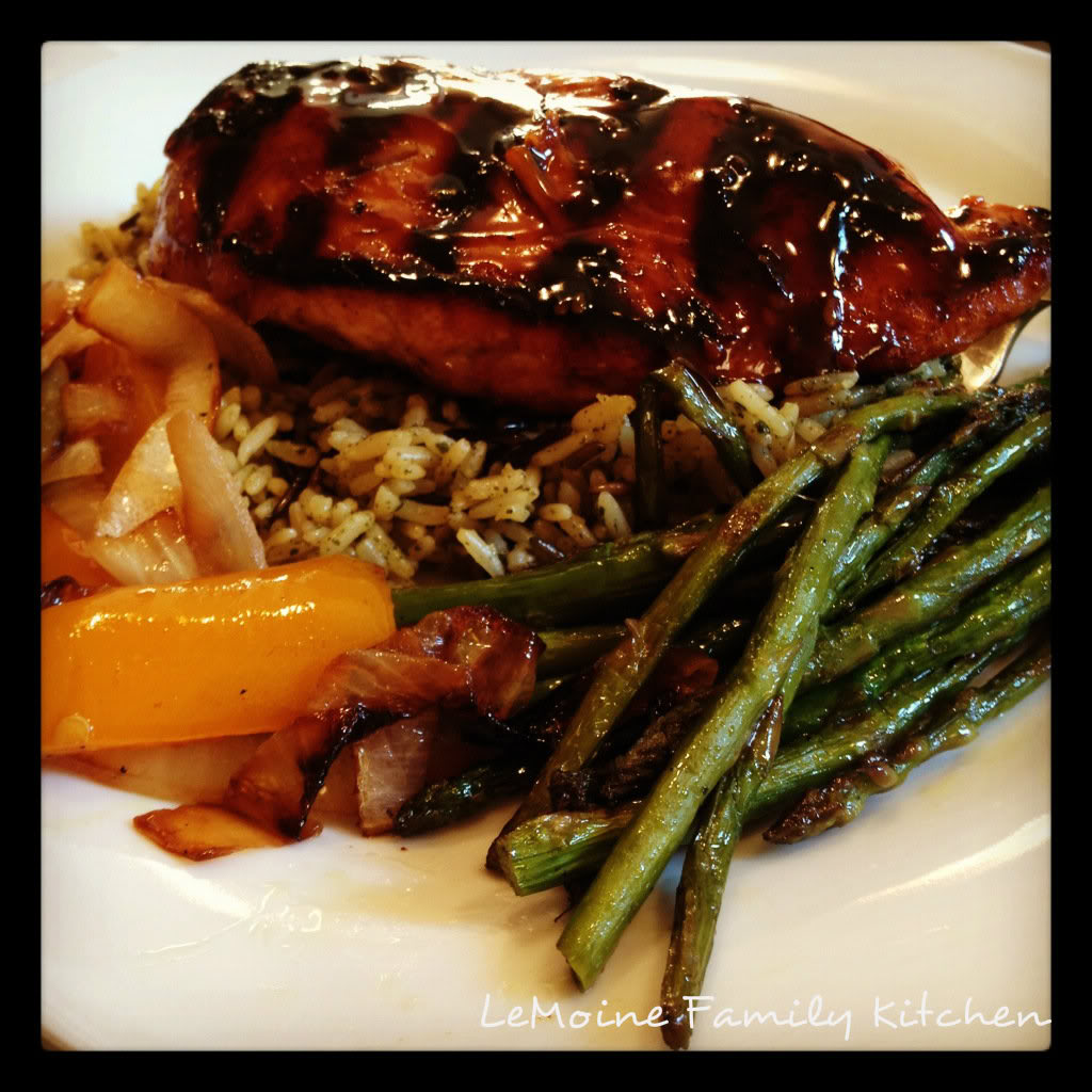 Honey Teriyaki Chicken with Grilled Veggies