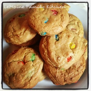 Easy Chewy M&M Cookies