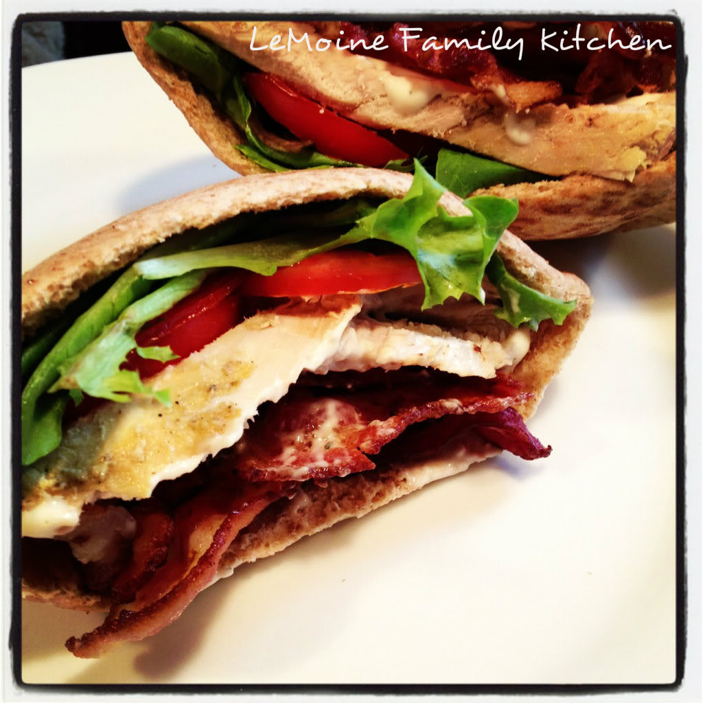 Whether its an easy grab and go lunch or a light dinner, this Turkey Ranch BLT is a great go to! A handful of really tasty ingredients and you are set!