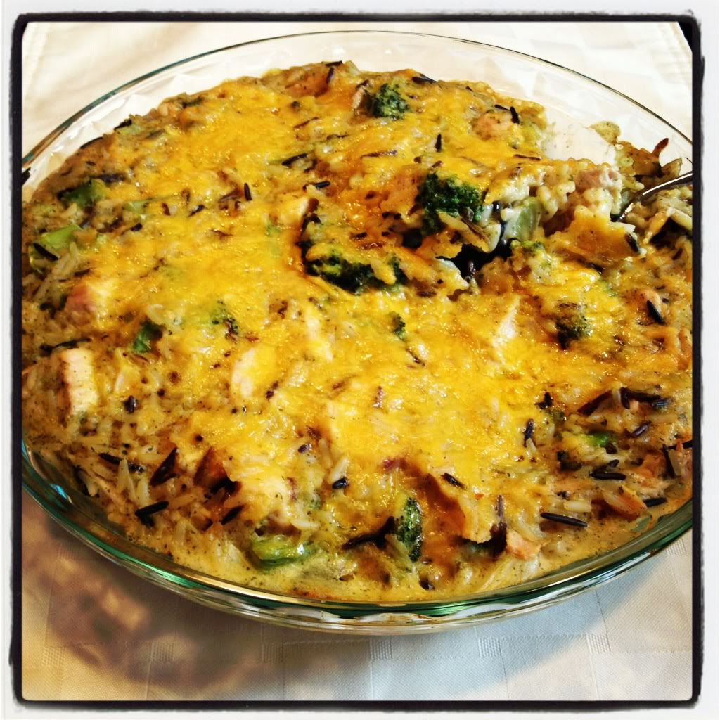 Turkey, Broccoli & Wild Rice Casserole