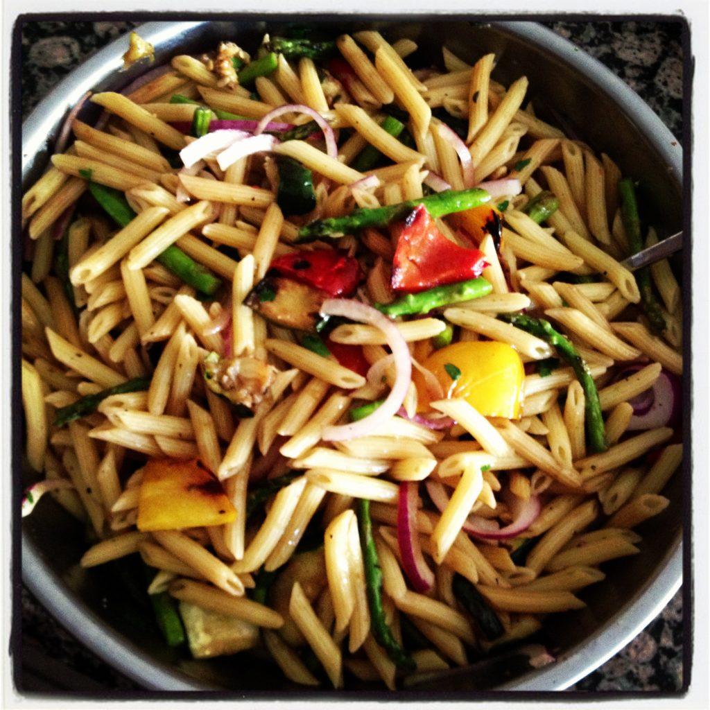 Grilled Vegetable Pasta Salad/.
