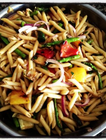 Grilled Vegetable Pasta Salad/.