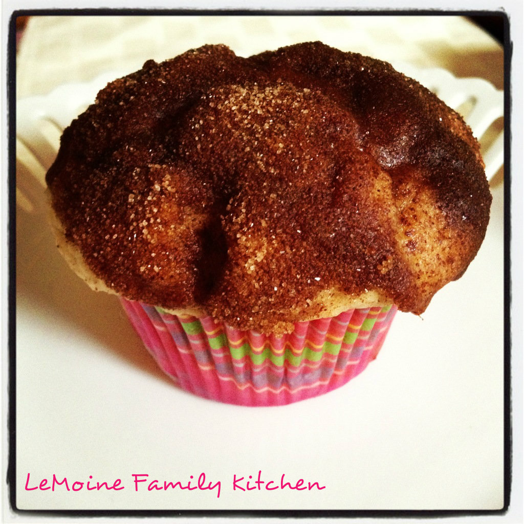 French Toast Muffins | LeMoine Family Kitchen. These are the BEST EVER muffins!!! Those muffin tops are dipped in butter and warm maple syrup then dunked in cinnamon sugar. AMAZING!!!!
