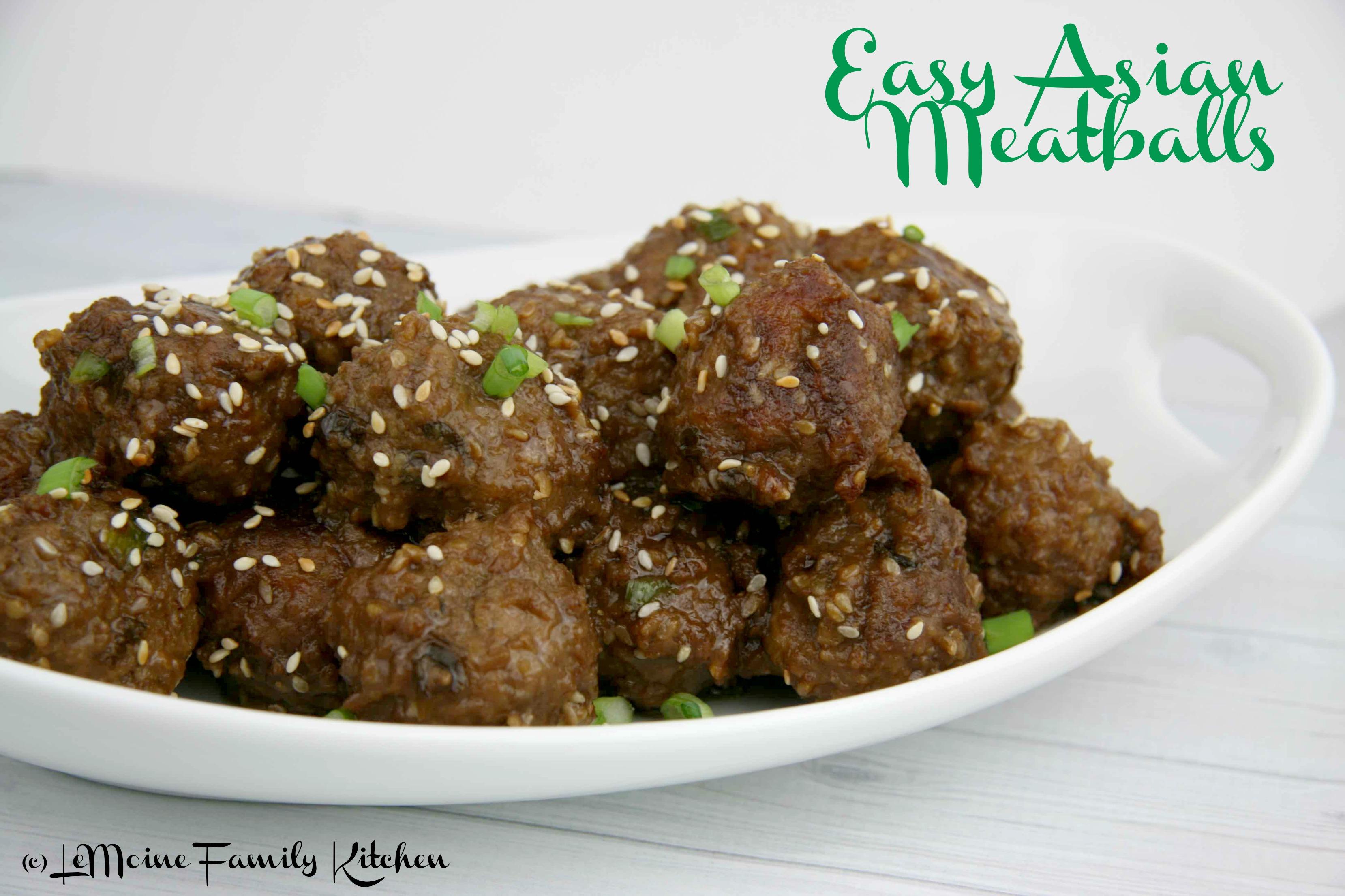 Easy Asian Meatballs
