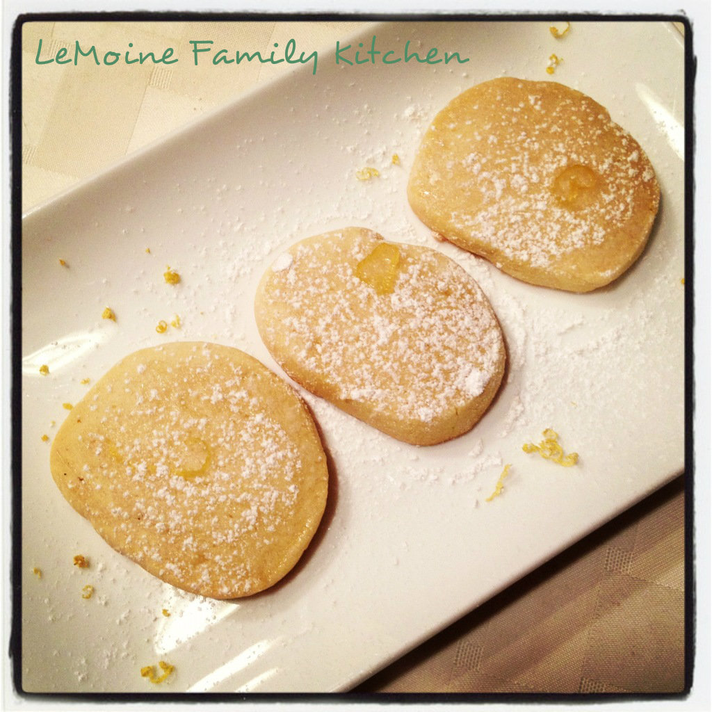 Shortbread Cookies with a Lemon Glaze | LeMoine Family Kitchen. A simple and flavorful shortbread cookie with a bright and refreshing lemon glaze.