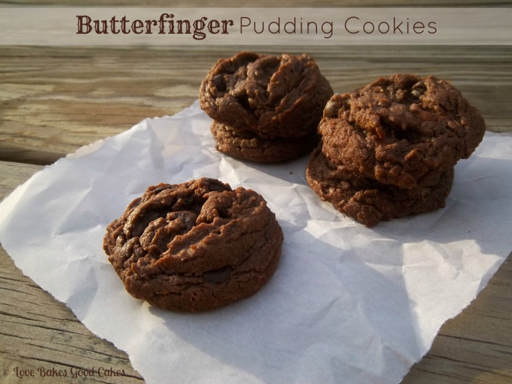 Butterfinger Pudding Cookies . This is am AMAZING cookie recipe!! Ya'll need to try this one ASAP!! WOW!