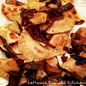 Homemade Pierogies with onions! Absolutely incredible comfort food!