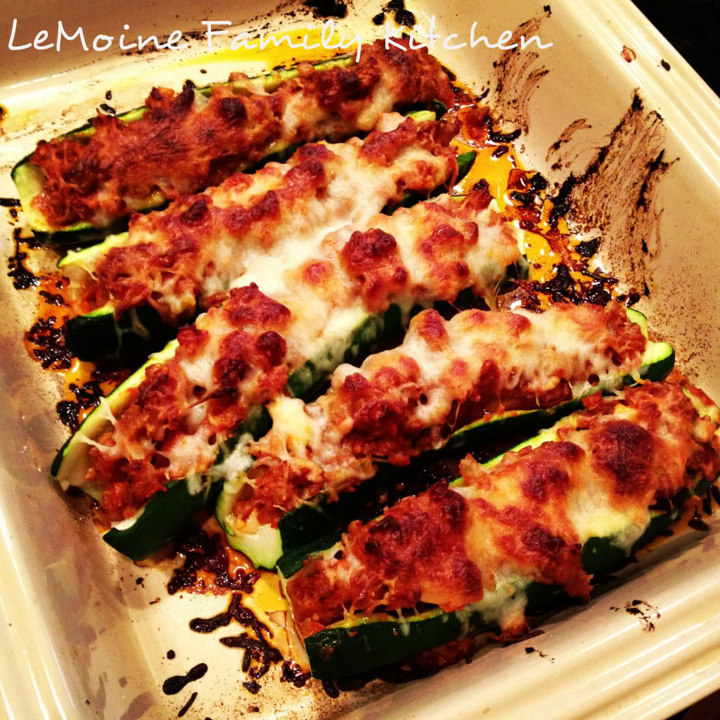 Sausage Stuffed Zucchini Boats are a great Italian inspired side dish or main dish. They are hearty and packed with great flavor.
