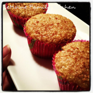 Oatmeal Strawberry Banana Muffin. A healthy way to start the morning. A handful of simple ingredients to make these tasty breakfast treats.