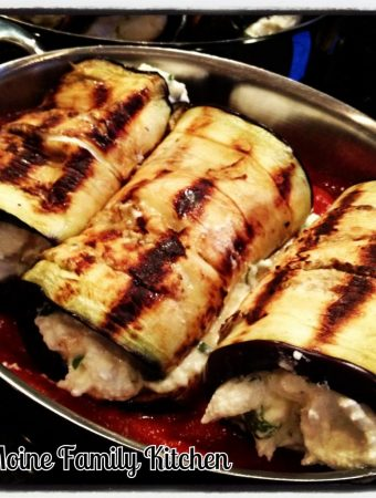 Grilled Eggplant Rollintini! A little twist on the classic and a little healthier too!
