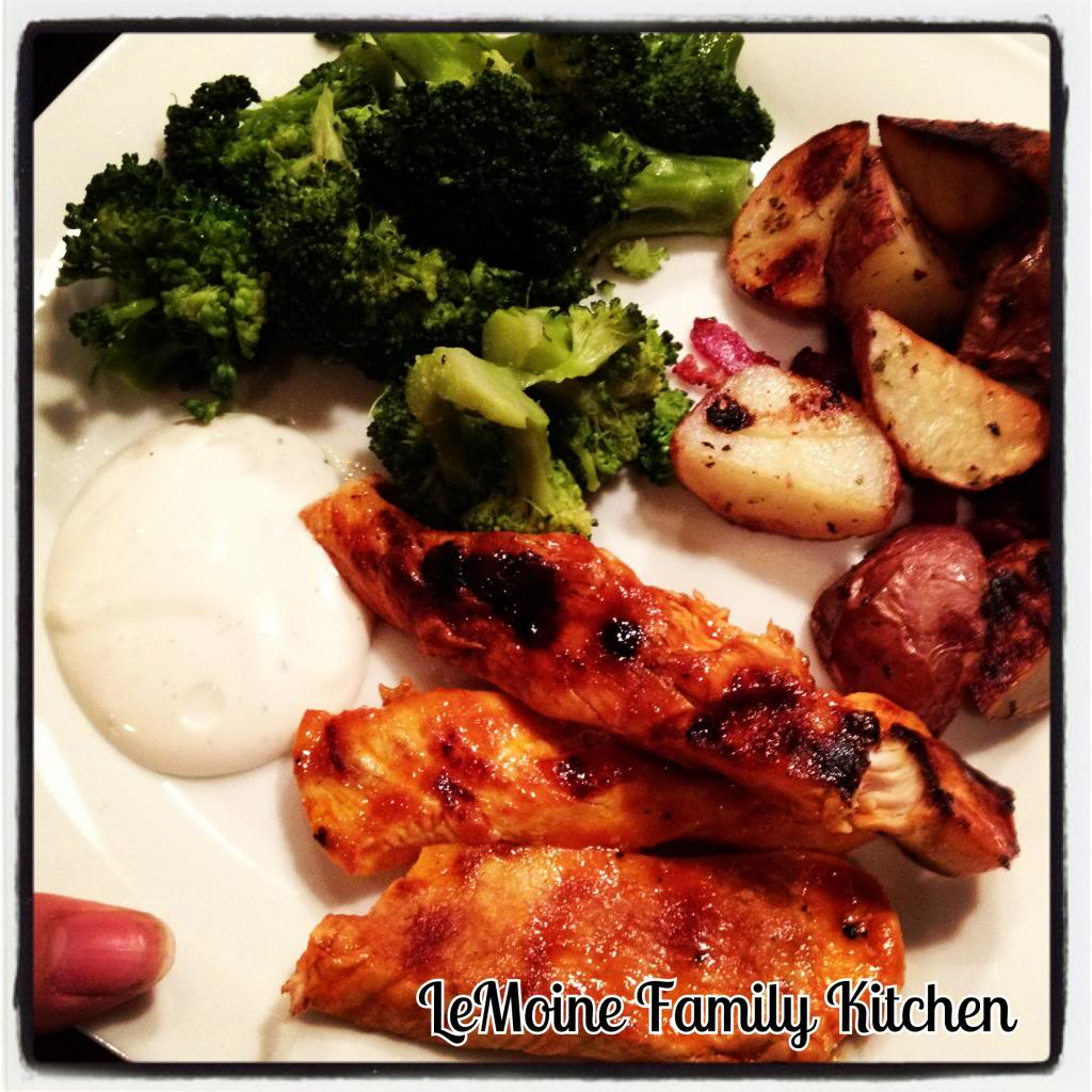 Lightened Up Buffalo Chicken & Roasted Ranch & Turkey Bacon Potatoes