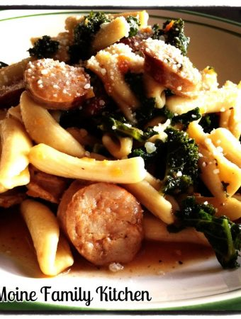 Cavatelli with Chicken Sausage and Kale
