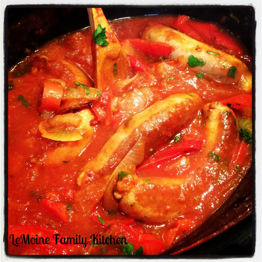 This Slow Cooker Sausage, Peppers & Onions is Italian comfort food made really simple!! You can serve this over some good crusty bread, over some spaghetti or on its own with a side salad.