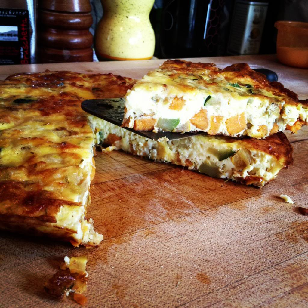 Meatless Monday :: Squash & Sweet Potato Fritatta