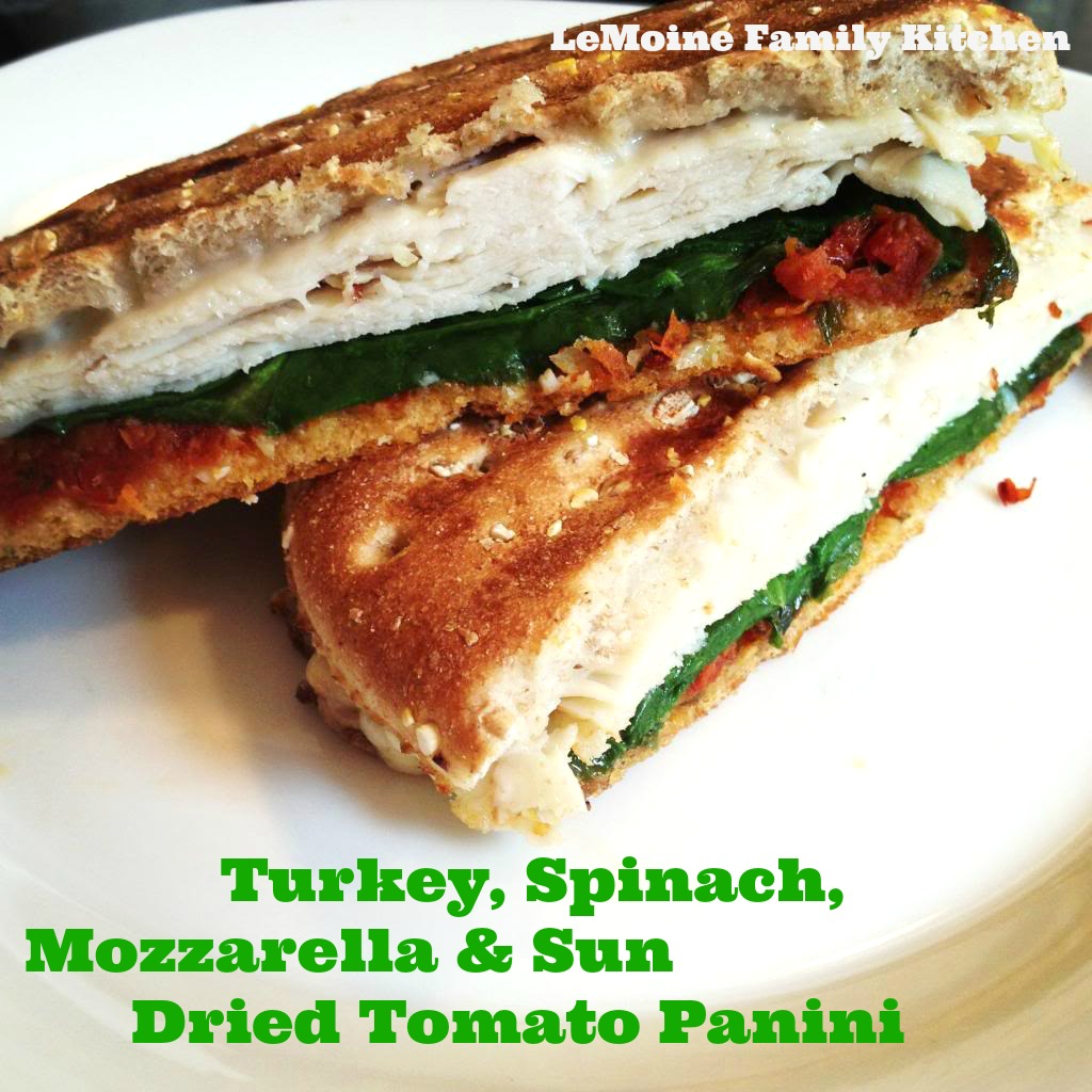 Turkey, Spinach, Mozzarella & Sun Dried Tomato Panini