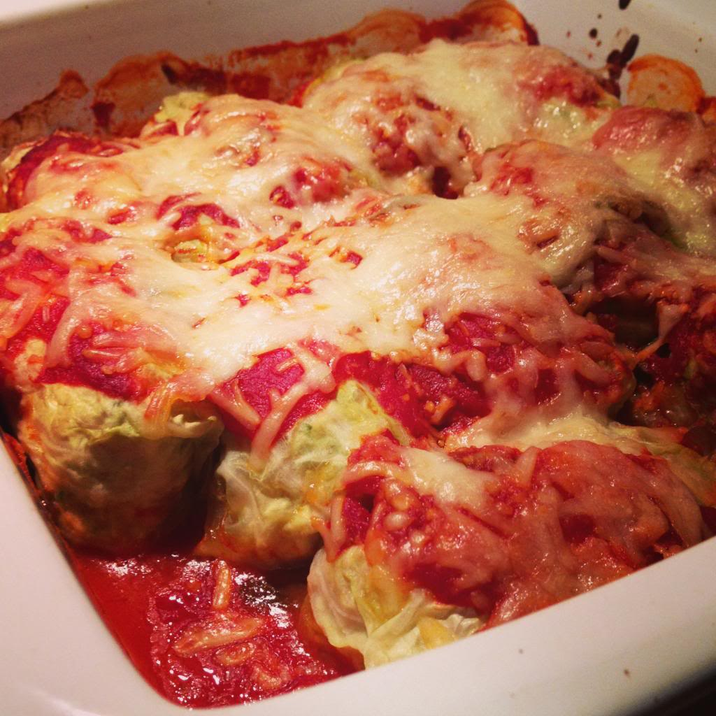 Stuffed Cabbage with an Italian Twist