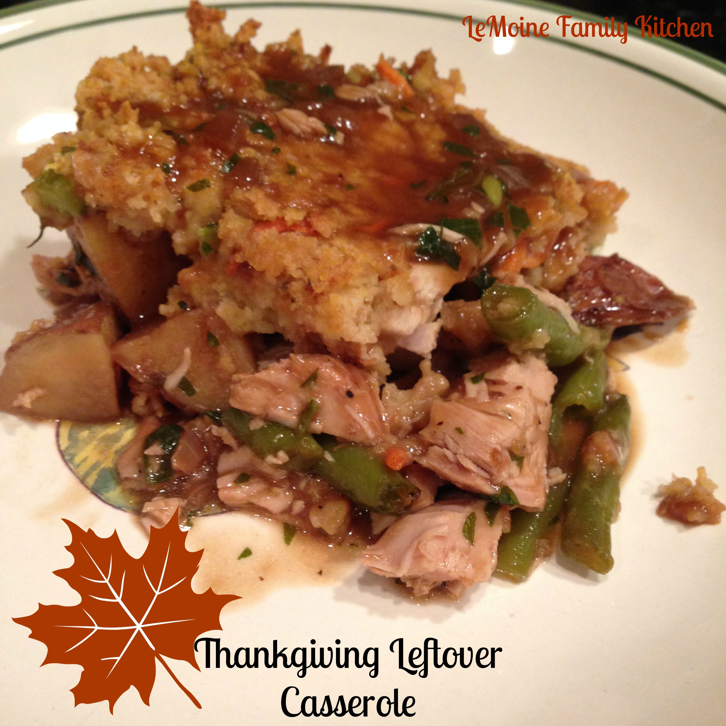 What would a holiday be without some delicious leftovers? Sometimes you have juts  little bit of each thing but don't worry you can absolutely make a meal out of it!!! Heres how I stretch it out.... my Thanksgiving Leftover Casserole.