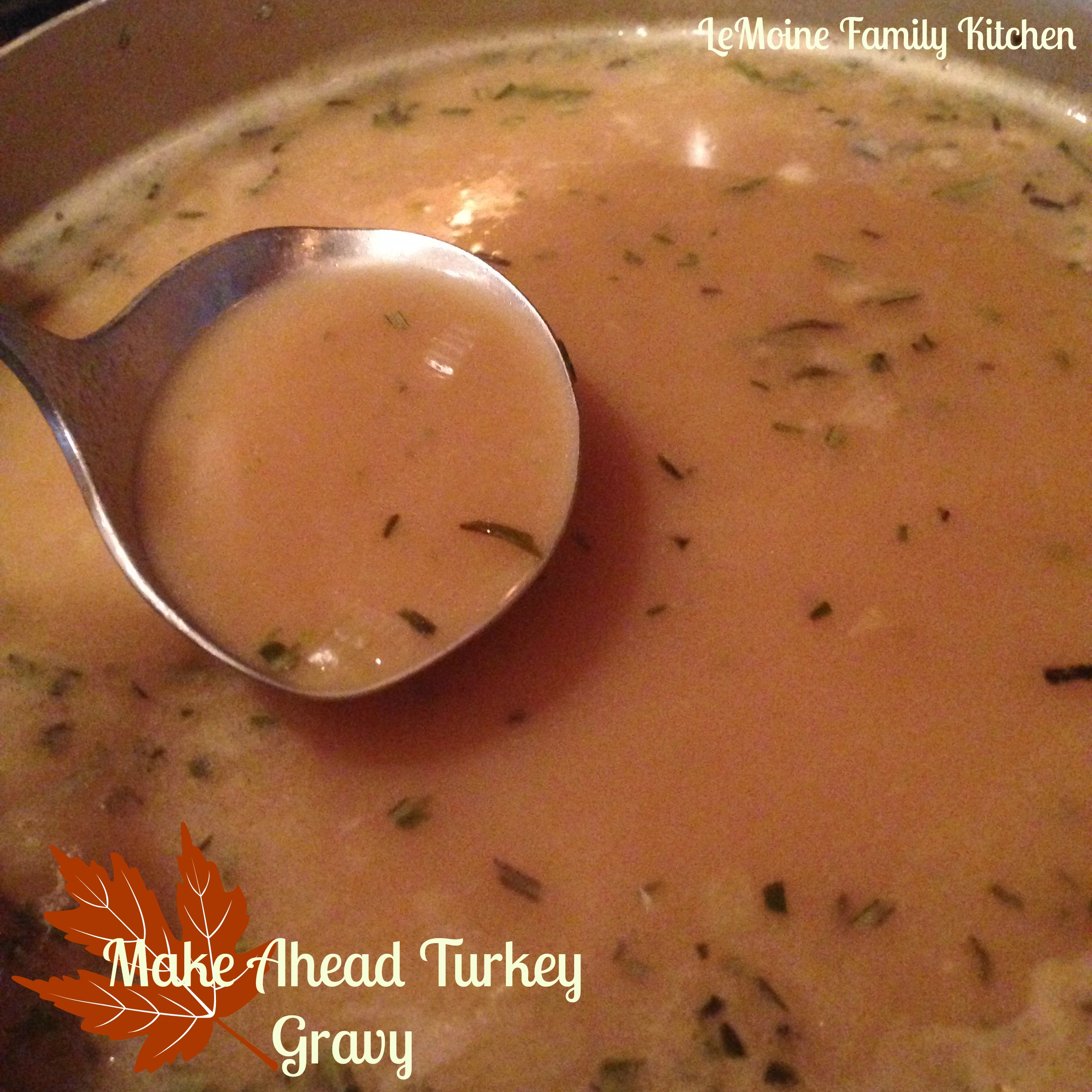 Make Ahead Turkey Gravy :: Thanksgiving