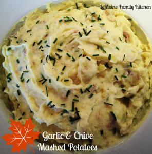 Garlic & Chive Mashed Potatoes | LeMoine Family Kitchen #thanksgiving #sidedish #potato #mashedpotato #holiday