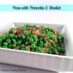 Peas with Pancetta & Shallot