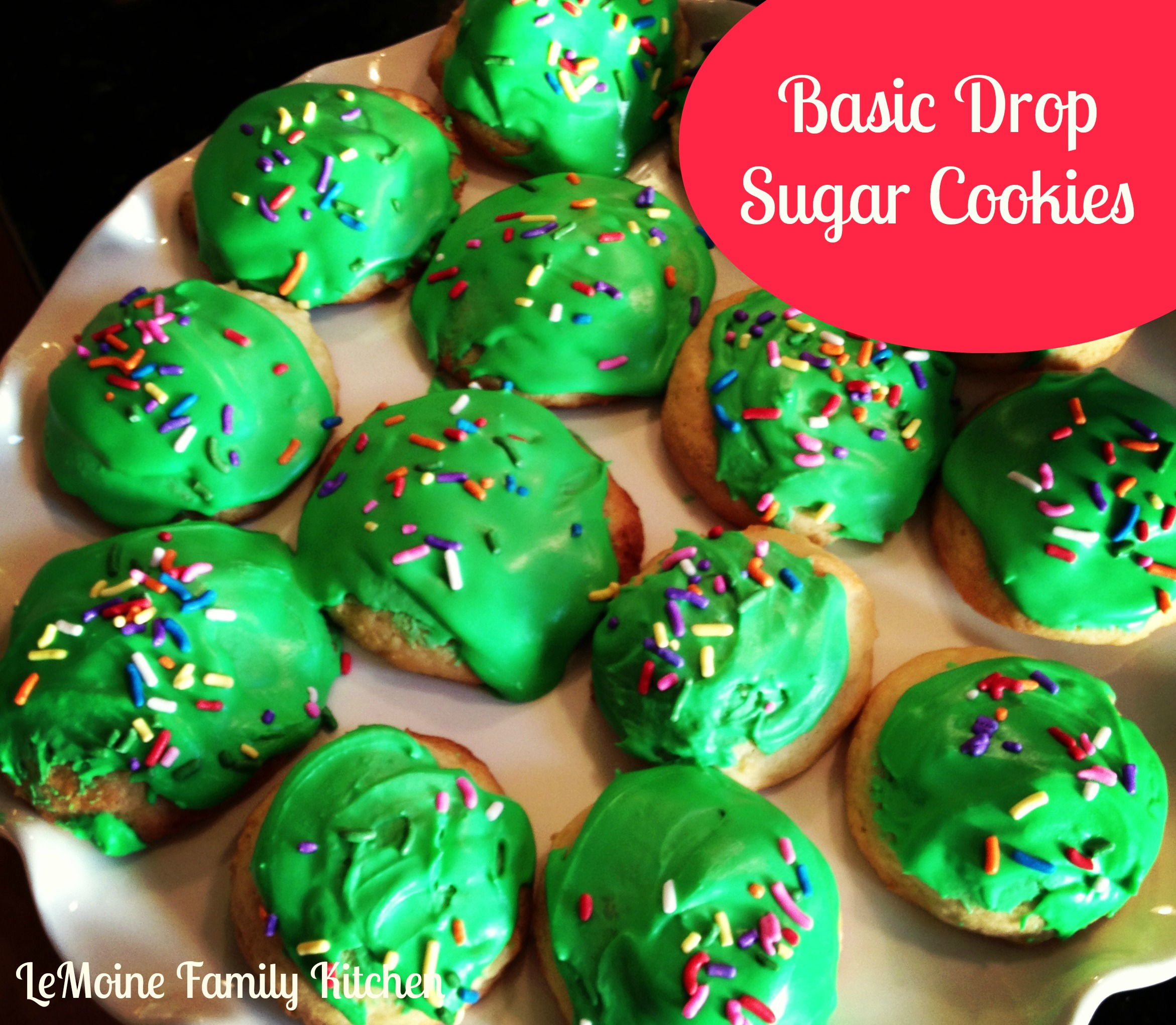 Basic Drop Sugar Cookies