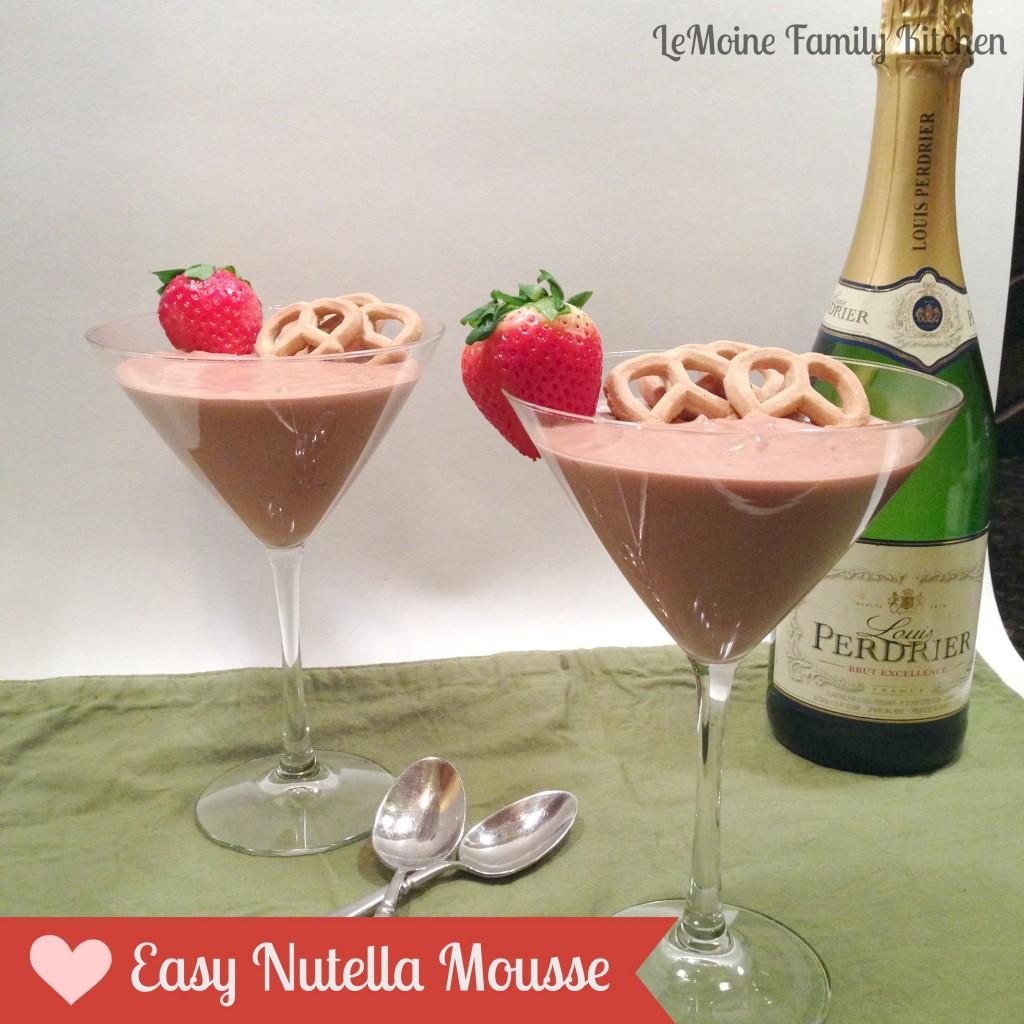 Easy Nutella Mousse | LeMoine Family Kitchen