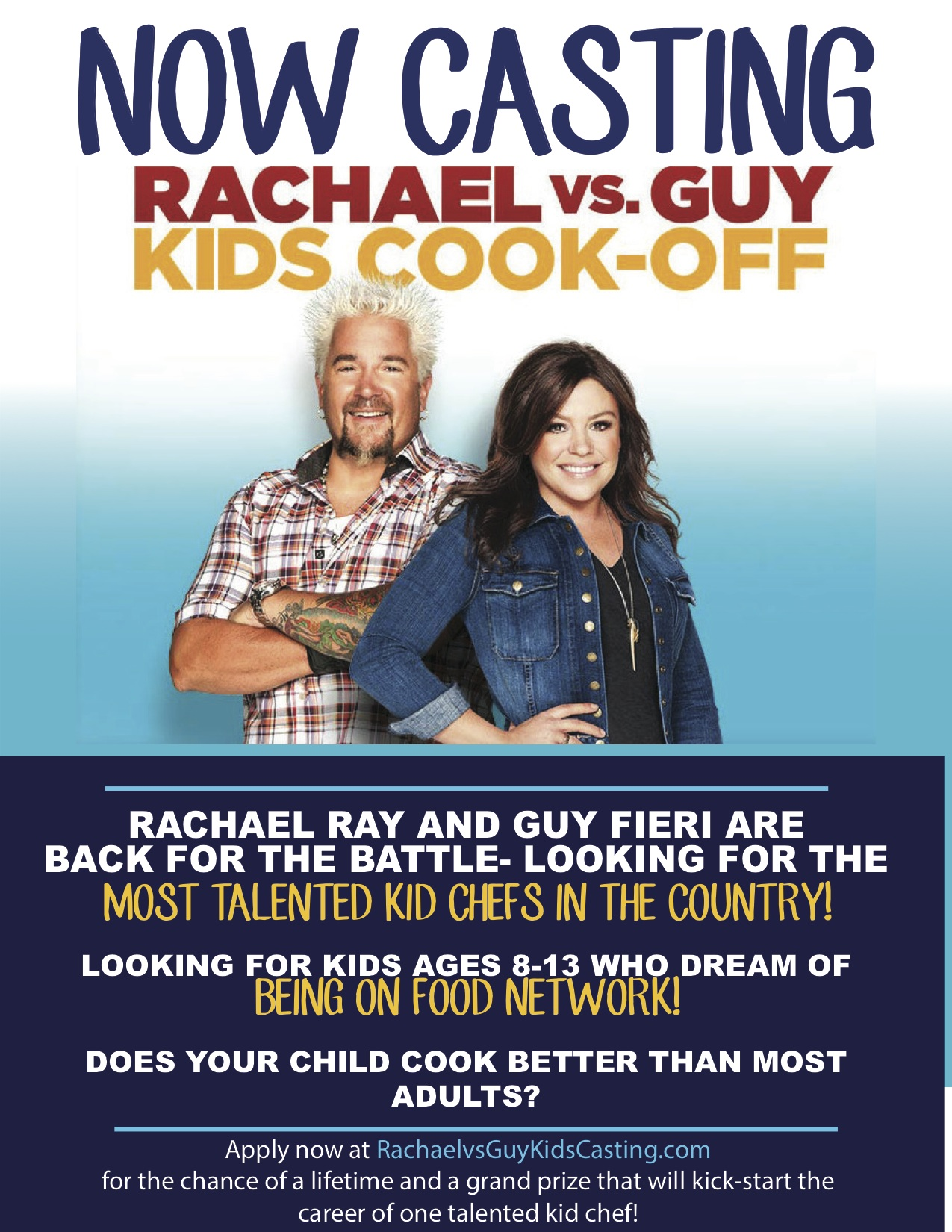 Rachael vs Guy : Kids Cook-Off on Food Network