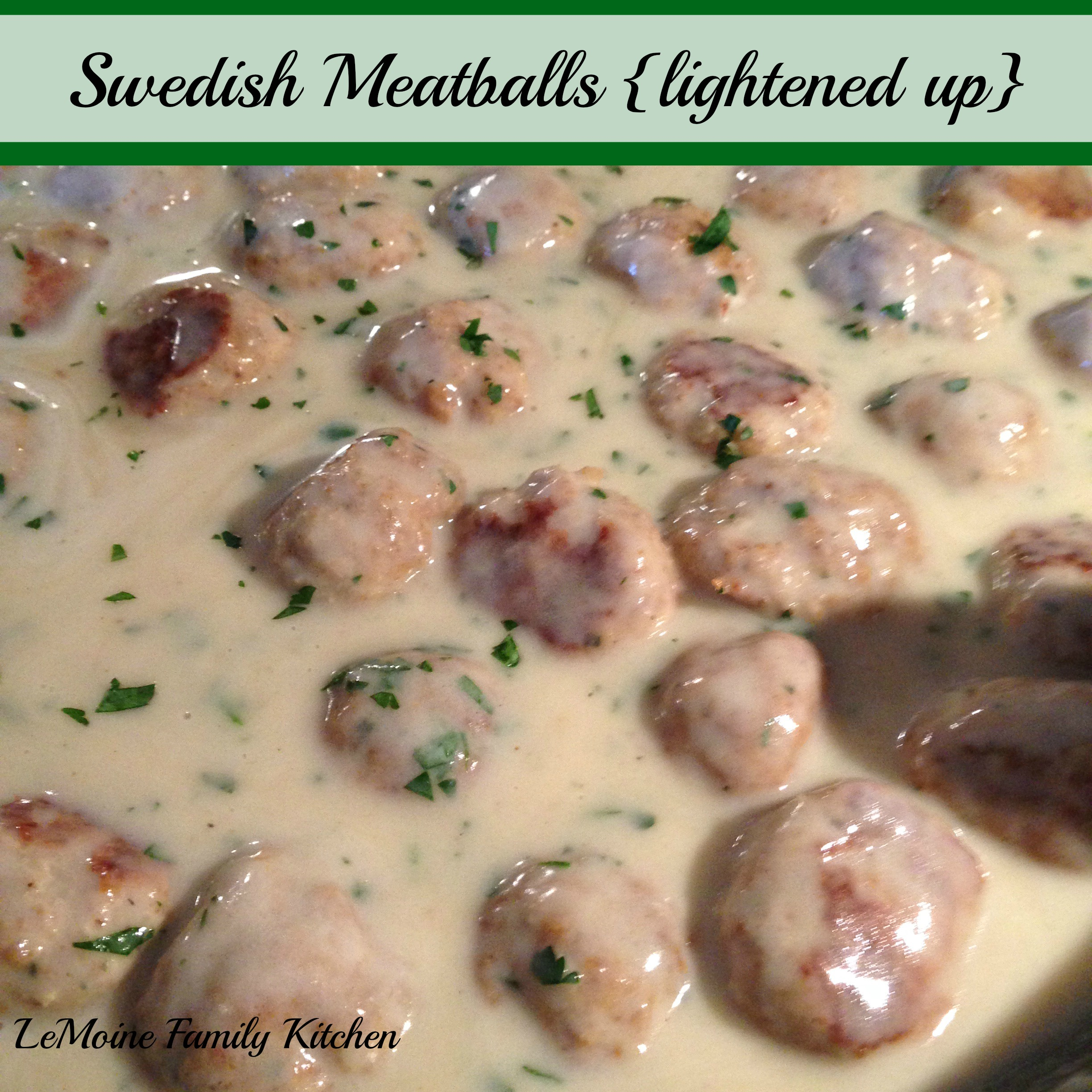 Swedish Meatballs {lightened up}