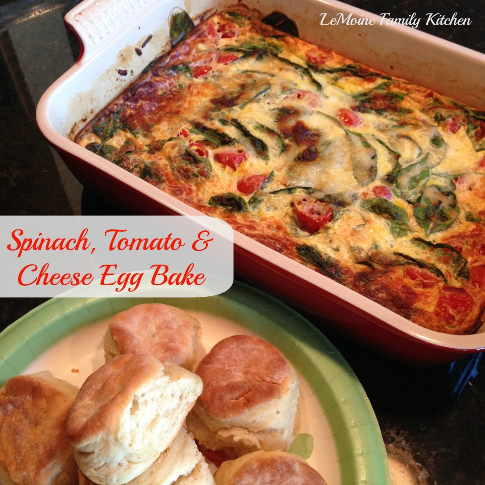 Spinach, Tomato & Cheese Egg Bake