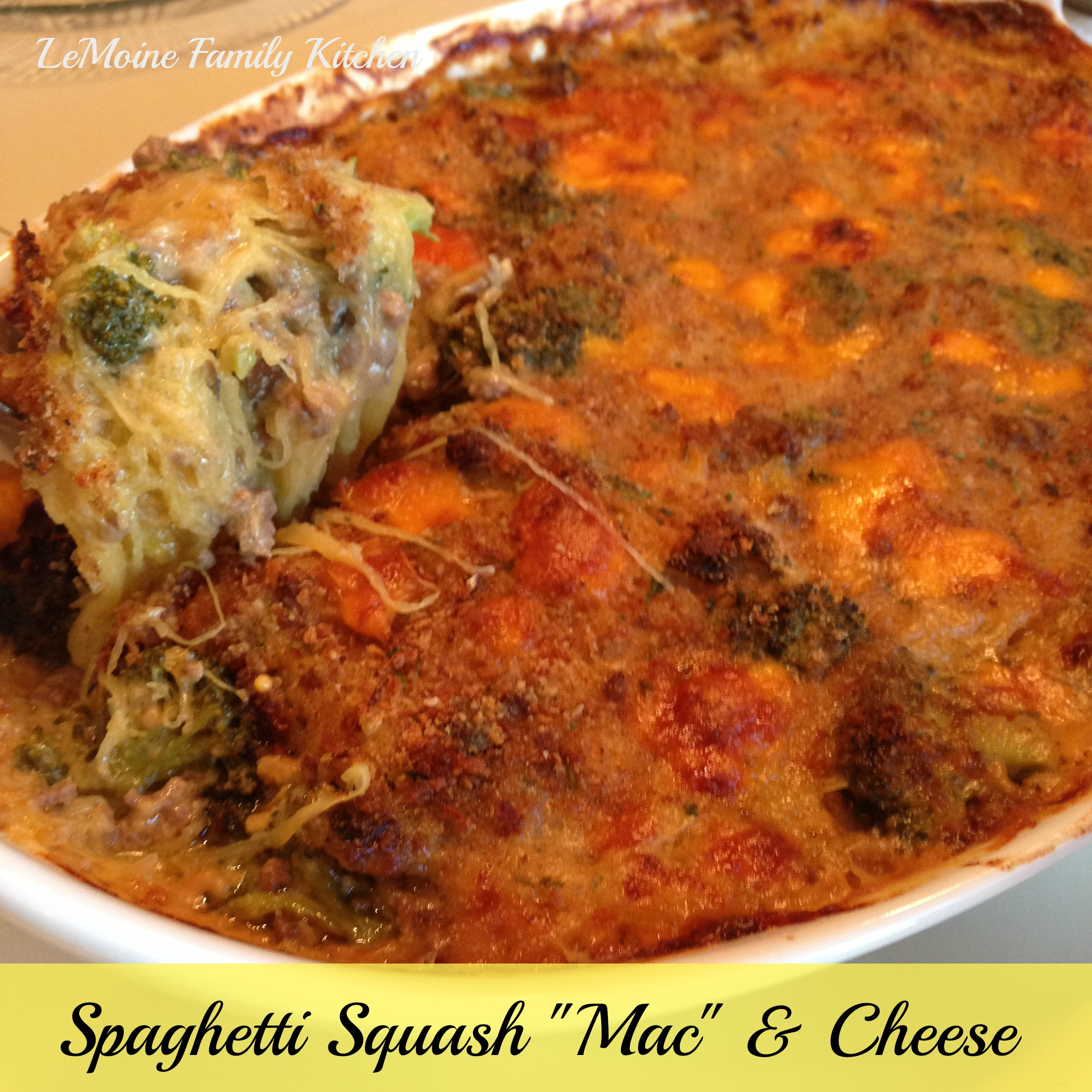 "Spaghetti Squash ""Mac"" & Cheese"