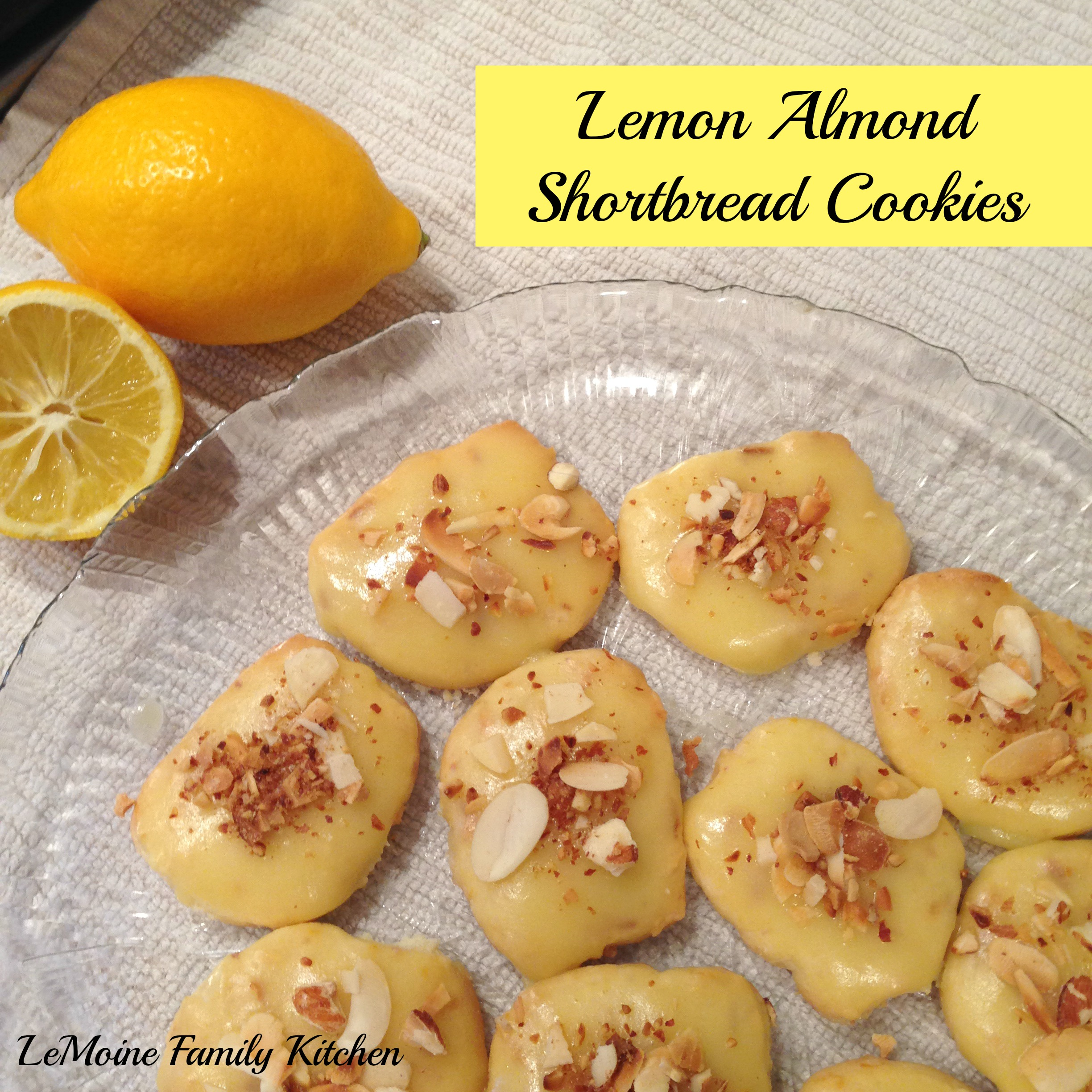 Lemon Almond Shortbread Cookies
