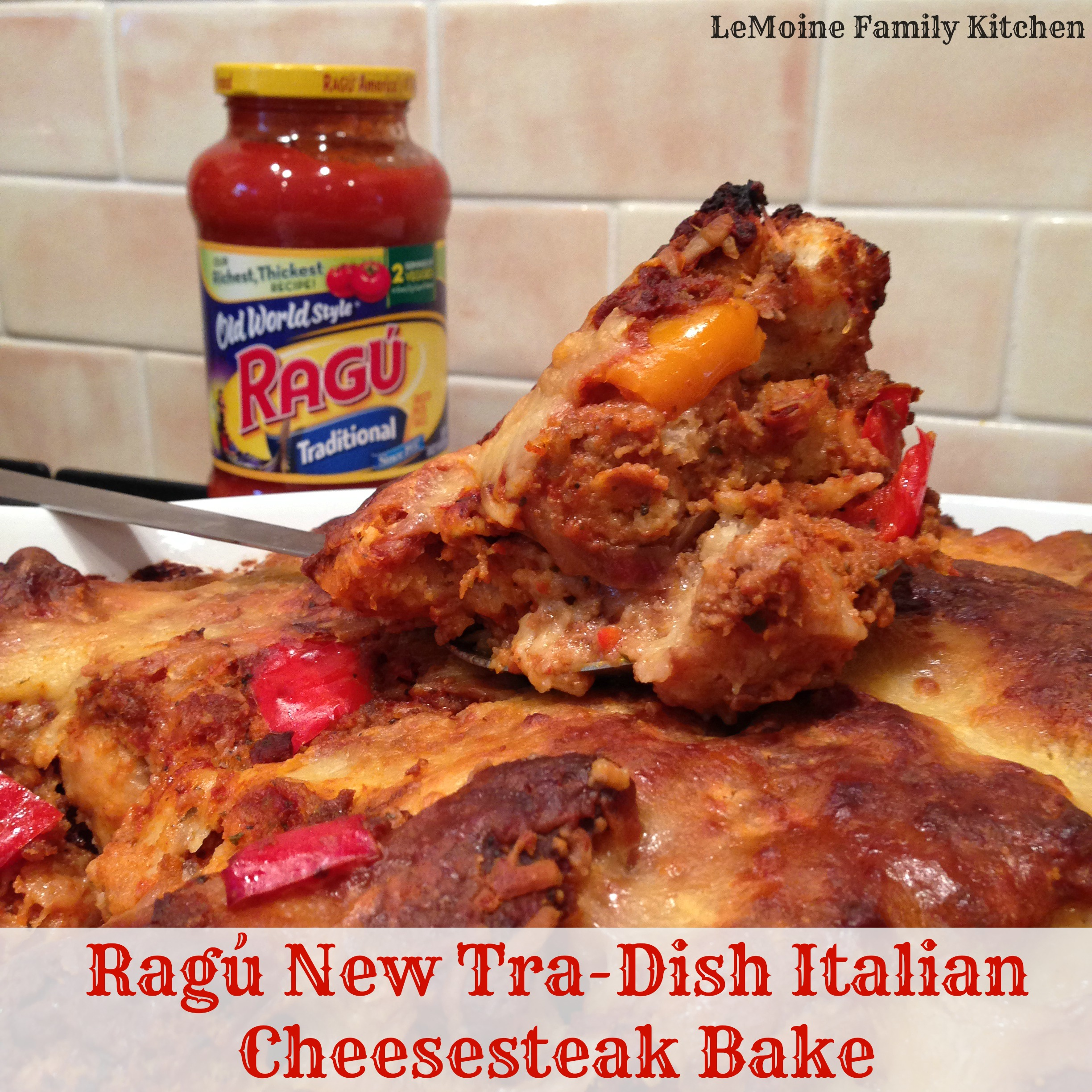 Ragú New Tra-Dish Italian Cheesesteak Bake