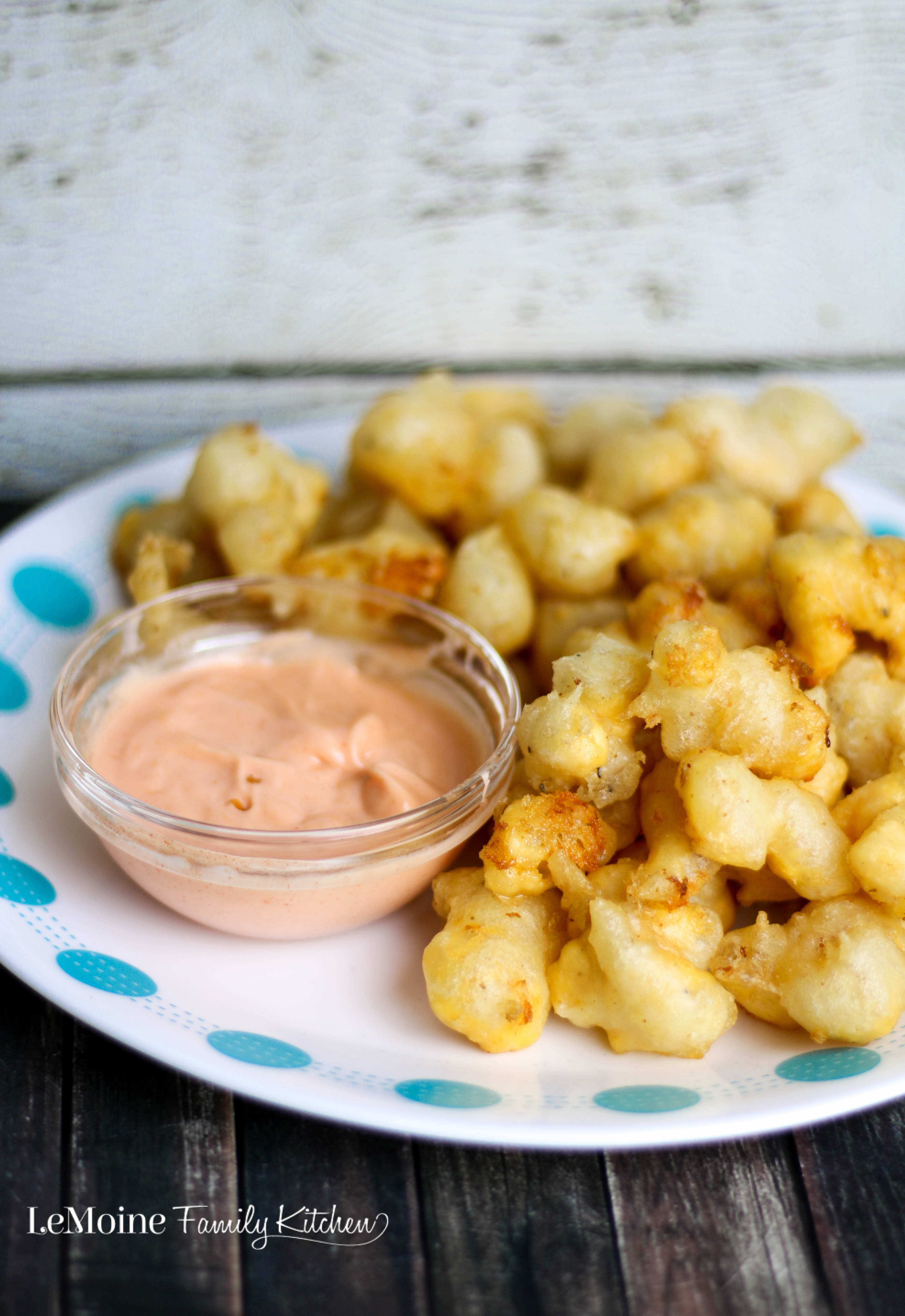 Beer Battered Cheese Curds with Spicy