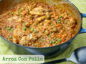 Arroz Con Pollo   LeMoine Family Kitchen #chicken #onepot #dinner #spanish #chickenandrice #chickenandolives #budgetfriendly