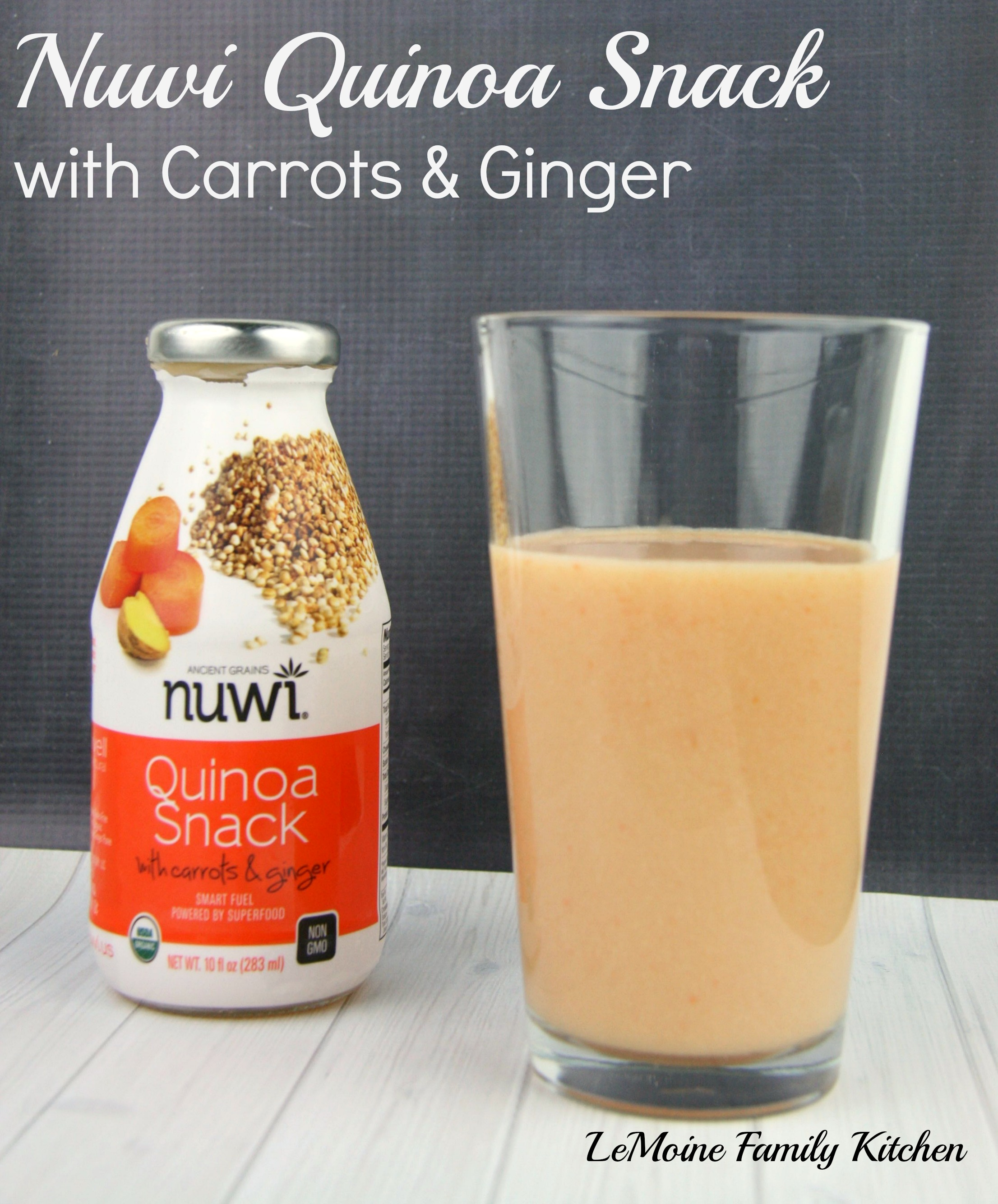 Nuwi Quinoa Drink with Carrots & Ginger | LeMoine Family Kitchen #healthy #juice #smoothie #vegan #soyfree #drink #organic #quinoa #NUWIQuinoa