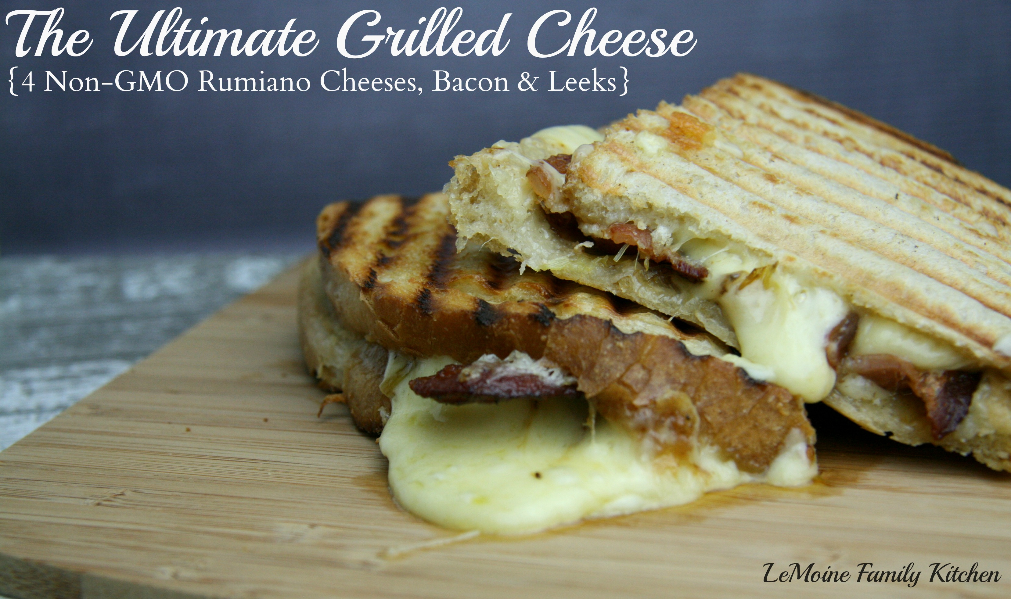 The Ultimate Grilled Cheese {4 Cheeses, Bacon & Leeks}