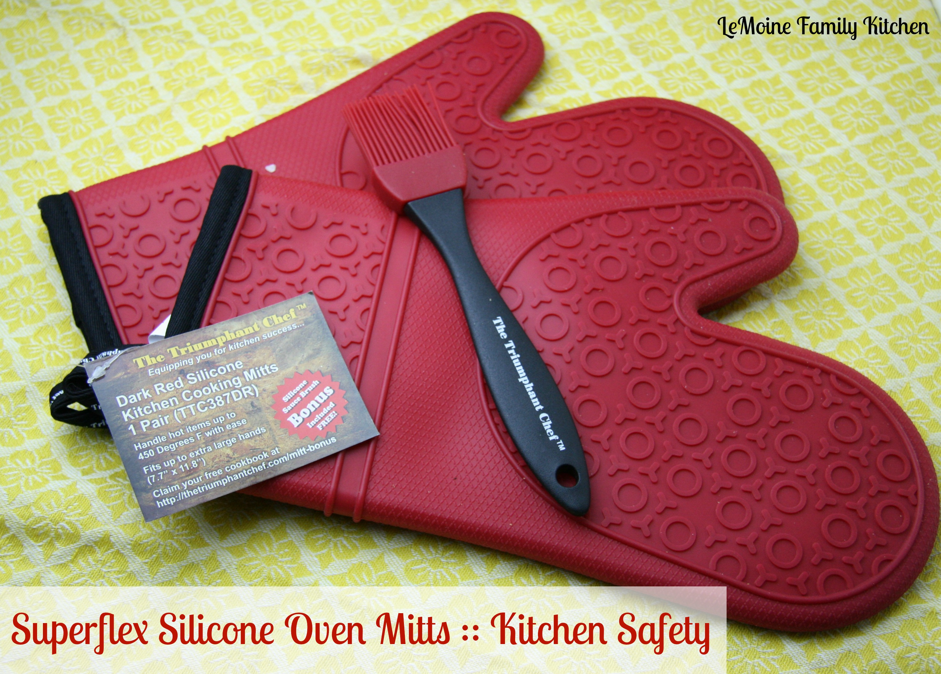 Super Flex Silicone Oven Mitts :: Kitchen Safety