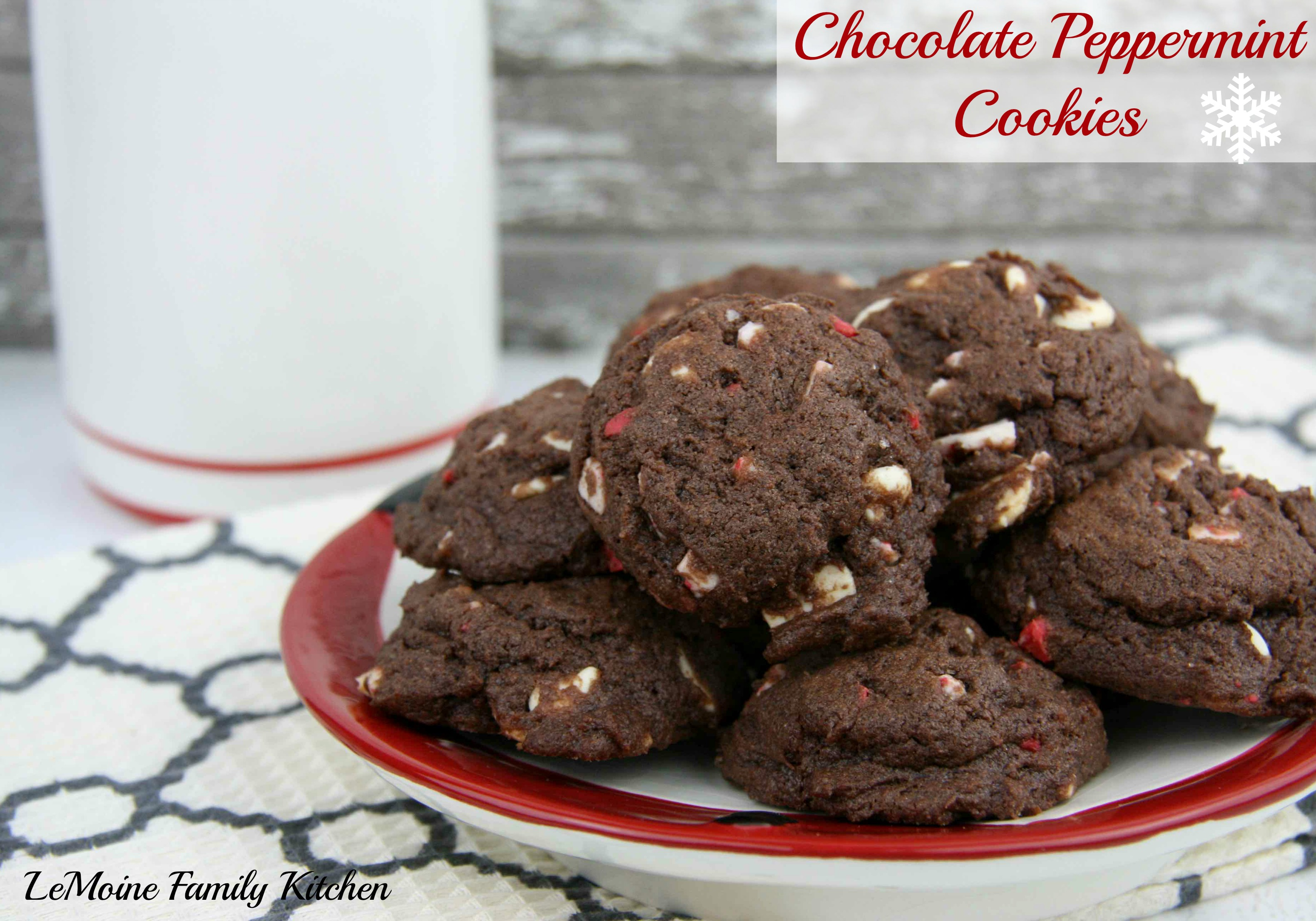 Chocolate Peppermint Cookies, Virtual Cookie Swap & $100 Pay Pal Cash Giveaway | LeMoine Family Kitchen #cookie #christmas #holiday #chocolate #giveaway