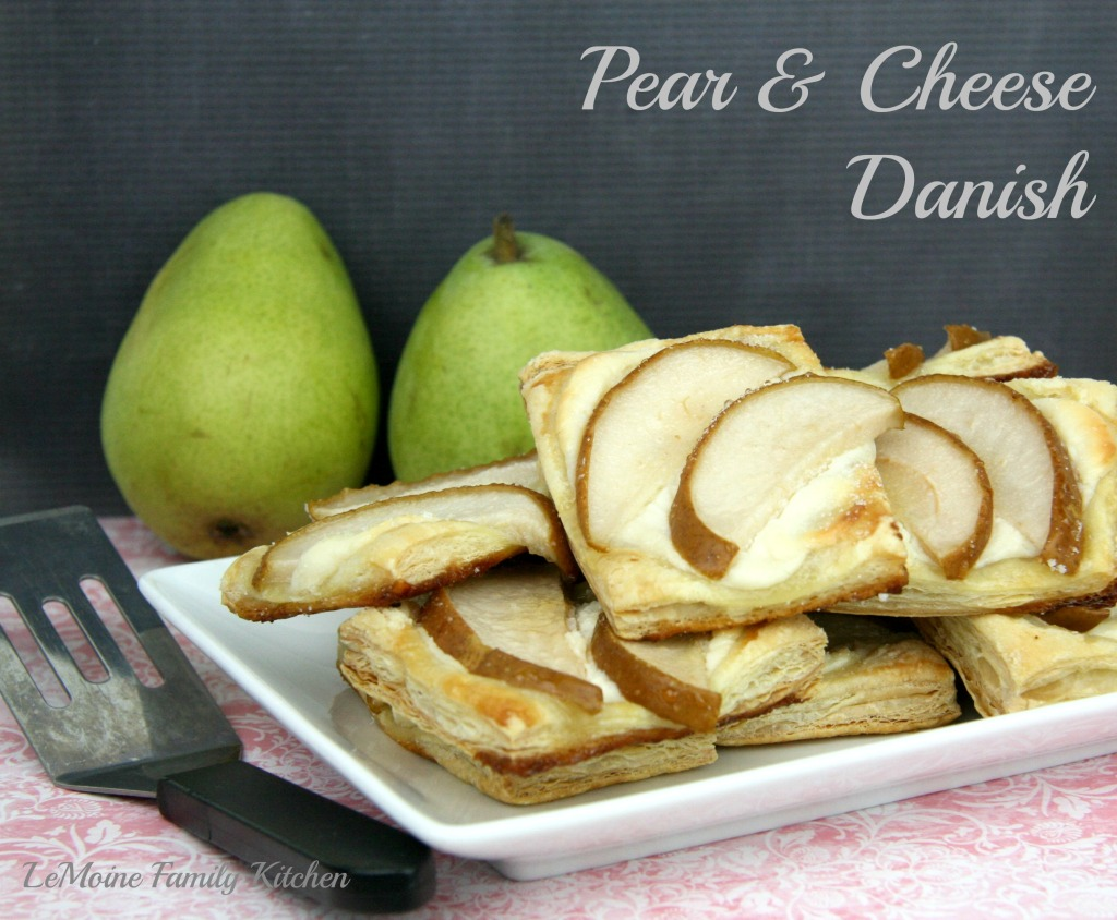 Pear & Cheese Danish and the Bake It Fun Mat | LeMoine Family Kitchen #dessert #brunch #puffpastry #danish #bakeitfun #siliconemat