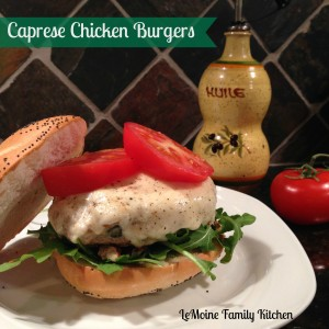 Caprese Chicken Burger | LeMoine Family Kitchen #easychickenrecipe #burger #chickenburger #caprese
